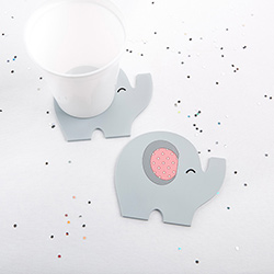 Little Peanut Elephant Coaster (Pink)