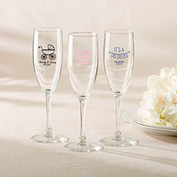 Personalized Champagne Flute – Baby Shower