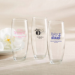 Personalized Stemless Champagne Glass – Baby Shower