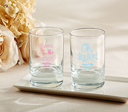 Personalized 9 oz. Rocks Glass – Baby Shower